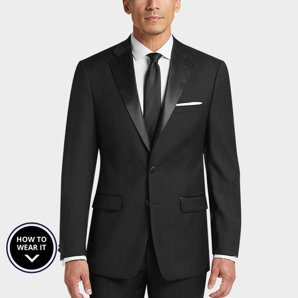 Calvin Klein Other - Calvin Klein X-Fit Black Slim Fit Tuxedo Jacket